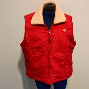Sz XL American Eagle red puffer vest